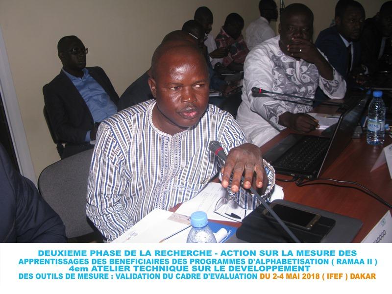 Pierre Sawadogo, le Coordinateur Régional du programme TOP EDUQ